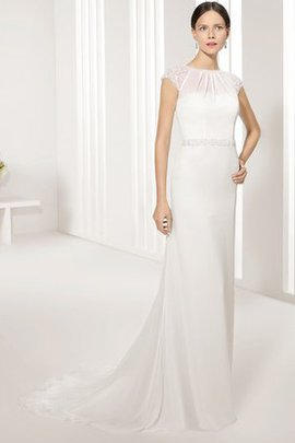 Thin Natural Waist Pleated Swing Outdoor Wedding Dress