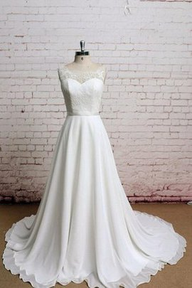 Outdoor Court Train Rectangle Lace Modest Wedding Dress