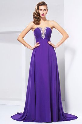 Long Natural Waist Zipper Up Sweetheart Beading Evening Dress