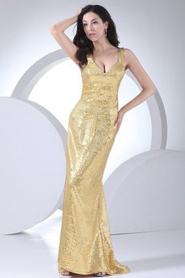 Lace-up Cheap Sequined Sheath Long Evening Dress