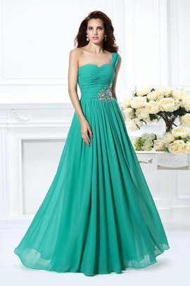 Princess One Shoulder Natural Waist Zipper Up Floor Length Prom Dress