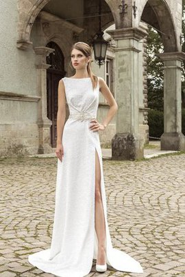 Informal & Casual Court Train Beach Natural Waist Empire Wedding Dress