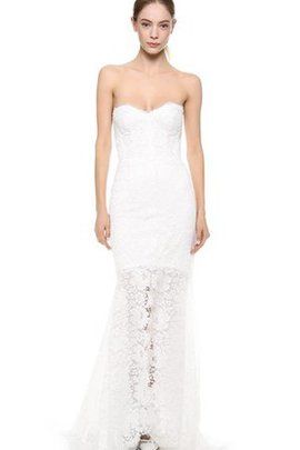 Split Front Natural Waist Mermaid Lace Sweep Train Wedding Dress
