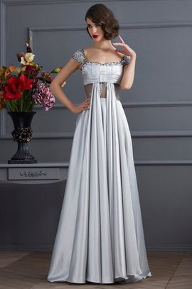 Sleeveless Draped A-Line Zipper Up Prom Dress