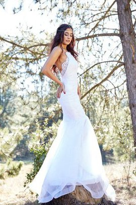 Mermaid Elegant & Luxurious Tulle Sleeveless Wedding Dress