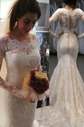 Floor Length Lace Fabric Eye-catching Church Embroidery Exclusive Wedding Dress