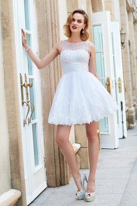 Zipper Up Princess Short Sleeveless Party Dress