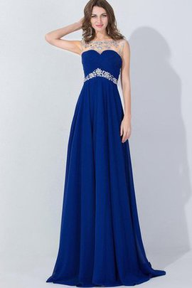 Chiffon Empire Waist Capped Sleeves Bateau Short Sleeves Evening Dress