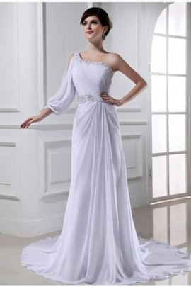 Empire Waist Sleeveless Princess Lace-up Chiffon Wedding Dress