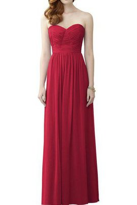 Sweetheart A-Line Chiffon Long Floor Length Bridesmaid Dress