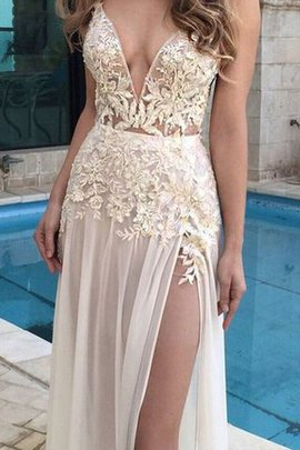 Sleeveless Natural Waist Princess Floor Length Appliques Evening Dress