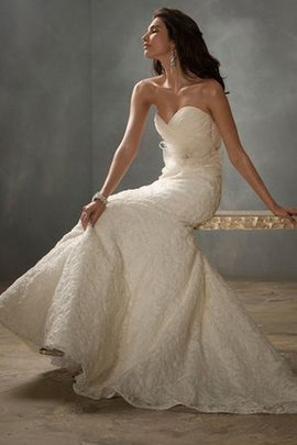 Natural Waist Sweetheart Sleeveless Mermaid Wedding Dress