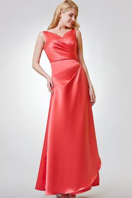 Sleeveless Elegant & Luxurious Floor Length Romantic Simple Bridesmaid Dress