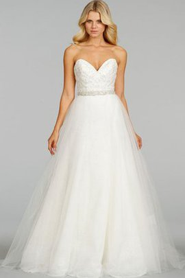 Sweep Train Ball Gown Natural Waist Crystal Sweetheart Wedding Dress