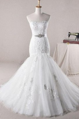 Beading Satin Natural Waist Sequined Off The Shoulder Wedding Dress