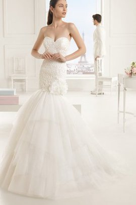 Sweep Train Hourglass No Waist Sexy Flowers Wedding Dress