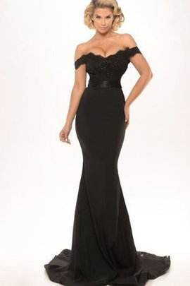 Elegant & Luxurious Backless Sweep Train Off The Shoulder Mermaid Evening Dress