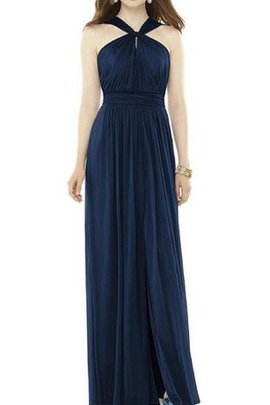 A-Line Floor Length Chiffon Ruched Bridesmaid Dress