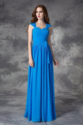 Natural Waist Long Chiffon Ruffles Floor Length Bridesmaid Dress