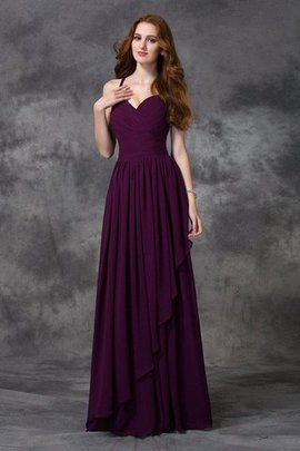 A-Line Sleeveless Floor Length Natural Waist Bridesmaid Dress