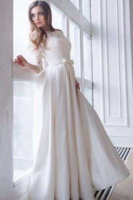 Lace-up Elegant & Luxurious Satin Ruffles A-Line Wedding Dress