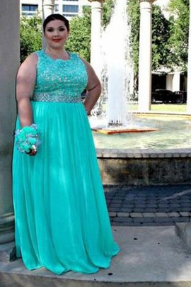 Princess Scoop Appliques Plus Size Sleeveless Prom Dress