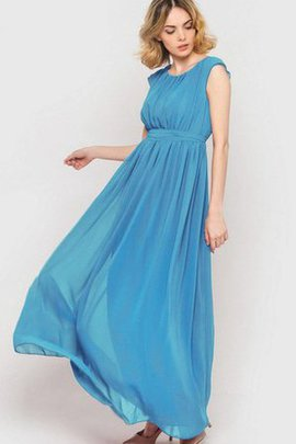 Chiffon Sashes Ankle Length Pleated Simple Bridesmaid Dress