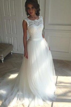 Delicate Natural Waist Outdoor Embroidery Long Lace-up Square Wedding Dress