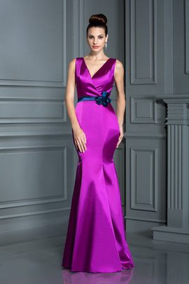 Empire Waist Floor Length Ball Gown Zipper Up Bridesmaid Dress