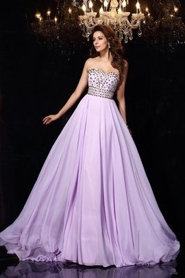 Chiffon A-Line Sleeveless Floor Length Evening Dress