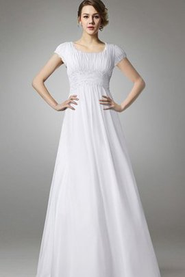 Capped Sleeves Short Sleeves Empire Waist Appliques A-Line Wedding Dress