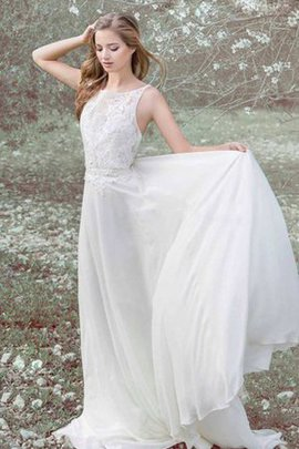Sweep Train Lace Bateau Sleeveless Vintage Wedding Dress