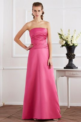 Pleated Strapless Natural Waist Sleeveless Floor Length Evening Dress