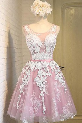 Elegant & Luxurious Chic & Modern Tulle Sashes Lace Fabric Homecoming Dress