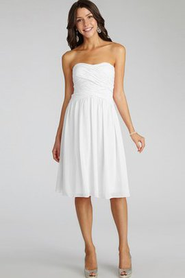 Strapless Short Criss-Cross Ruched Chiffon Bridesmaid Dress