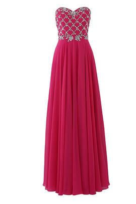 Chiffon Strapless Formal Jewel Accented Hall Evening Dress