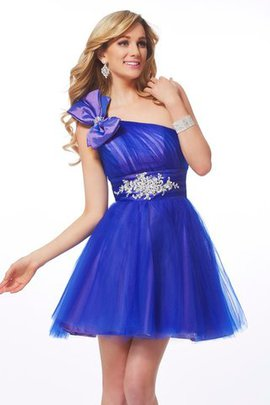 A-Line Short Beading One Shoulder Homecoming Dress