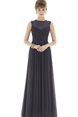 Pleated Sleeveless Chiffon High Neck Ruched Bridesmaid Dress