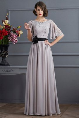 Sleeveless Zipper Up Beading A-Line Evening Dress