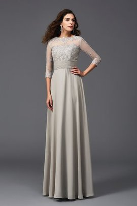 Chiffon A-Line Natural Waist Floor Length Long Evening Dress