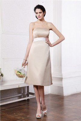 Sleeveless Knee Length Sashes Empire Waist Bridesmaid Dress