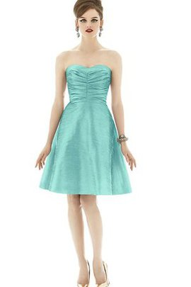 Sweetheart Ruched Short Taffeta A-Line Bridesmaid Dress