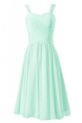 Short Natural Waist Sleeveless Sweetheart A-Line Bridesmaid Dress
