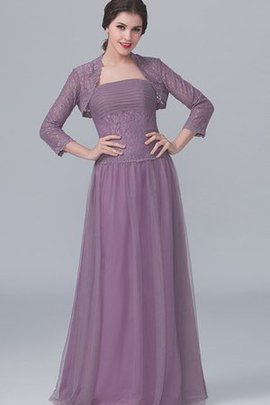 3/4 Length Sleeves Strapless Lace A-Line Bridesmaid Dress