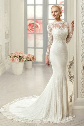 Vintage Embroidery Jewel Sheath Lace Fabric Wedding Dress