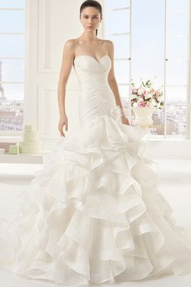 Long Demure Sexy Elegant & Luxurious Cascading Ruffle Wedding Dress