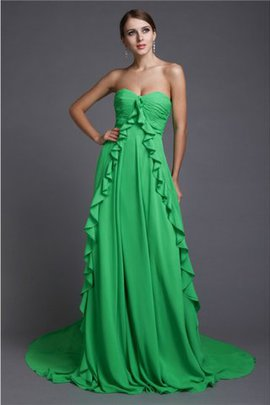 Natural Waist Sweetheart Sleeveless A-Line Prom Dress