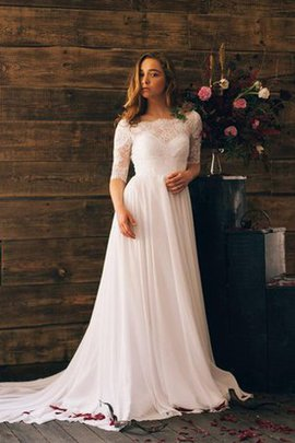 Ruched Elegant & Luxurious Chiffon Beach Informal & Casual Wedding Dress