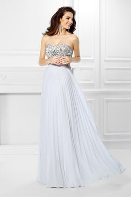 Beading Sleeveless Sweetheart Empire Waist Evening Dress