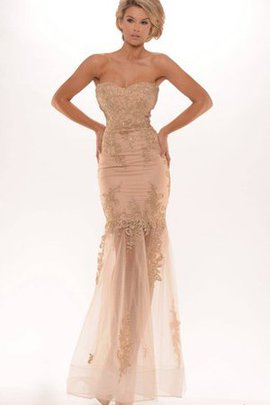 Natural Waist Sleeveless Beading Appliques Zipper Up Evening Dress